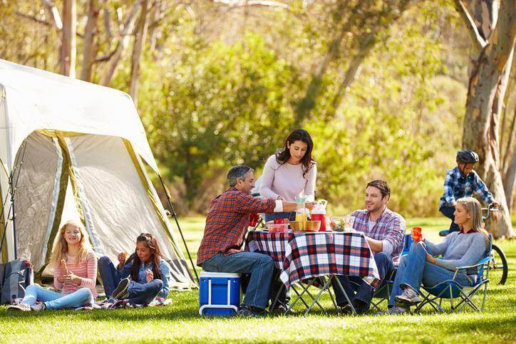 Partir en camping en famille
